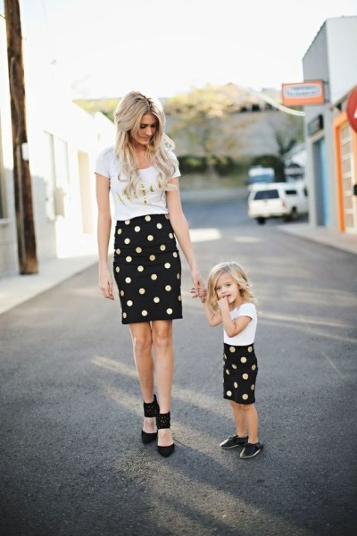 litter and Polka Dots Mommy and me outfits