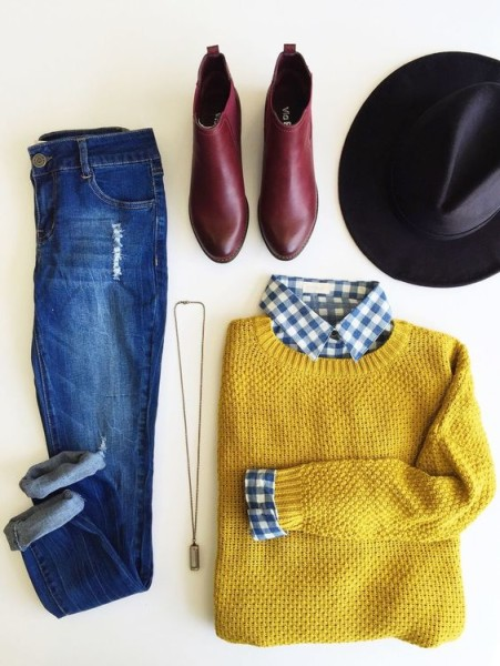 Picked Color: Trend Mustard Outfit Ideas For Early Autumn