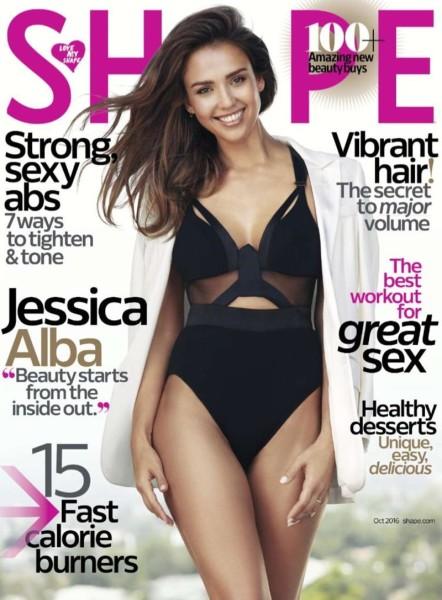 Jessica Alba on Shape Magazine October 2016 Cover | Jessica Alba Beauty's Secret: Shape Magazine Cover October 2016