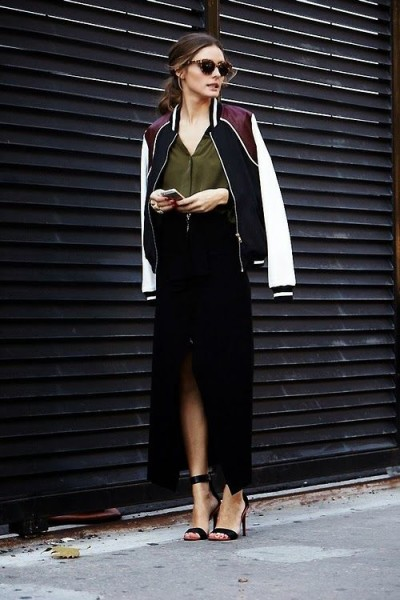 Olivia Palermo could make a bomber jacket look so chic
