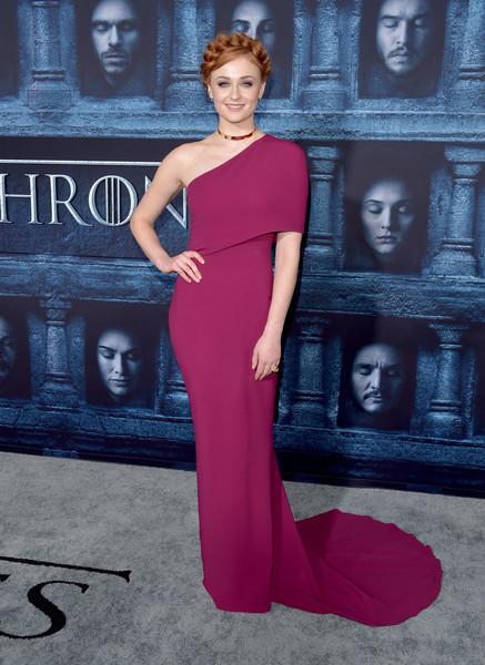 Sophie Turner One Shoulder Dress