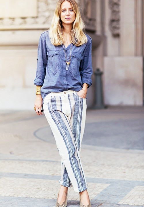 Striped Pants Outfit Looks You Can Follow Right Now