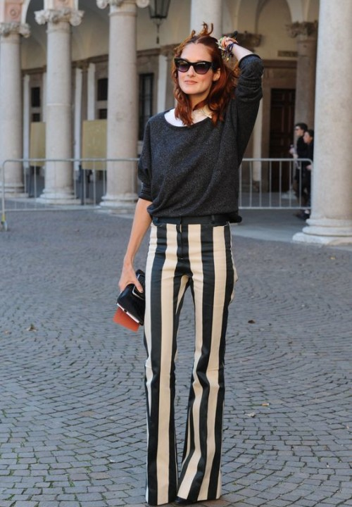 Striped Pants Outfit Looks You Can Follow Right Now Celebrity Fashion Outfit Trends And