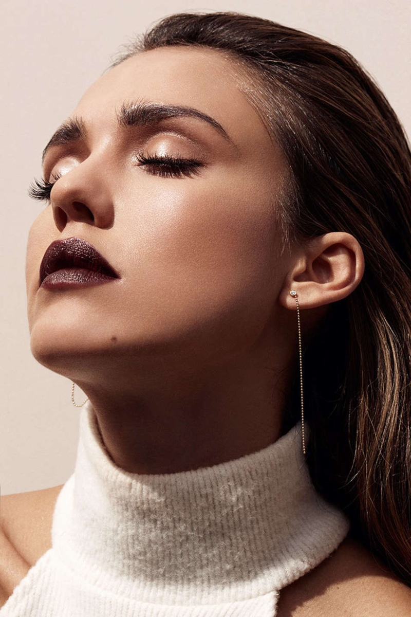 dark plum lipstick shade in the feature