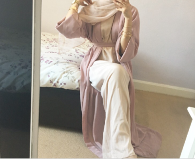 Abaya Hijab Pastel
