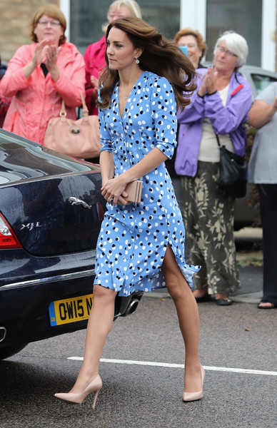 Kate Middleton looked cute in a polka-dot frock by Altuzarra while visiting Steward's Academy.