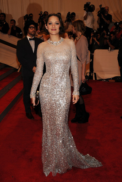 Marion Cotillard in  Christian Dior via Larry Busacca - Getty Images North America