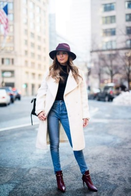 Add a bohemian spin to your look by accessorising with a soft, oversized fedora.
