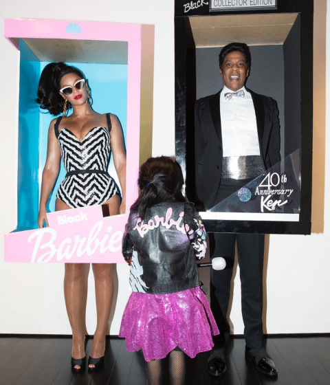 Beyoncé, Blue Ivy, and Jay Z As a Barbie family.