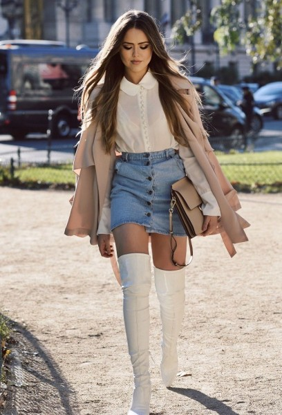 How to Style Outfit With High-knee Boots In This Season