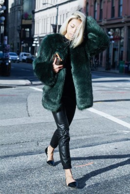 Fashion Blogger Vanessa Hong of 'The Haute Pursuit' debuts her collection of minimalist, yet brightly colored, faux fur coats