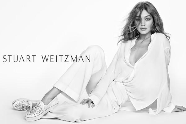 Gigi Hadid Stars for Stuart Weitzman's spring-summer 2017 campaign