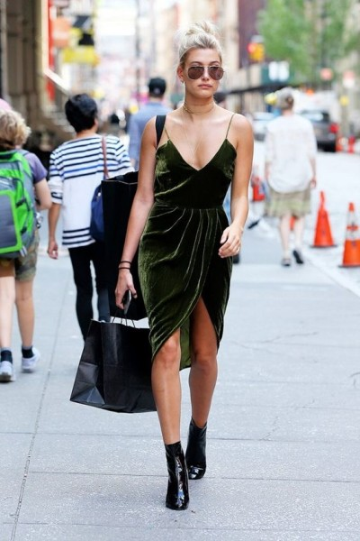 Hailey Baldwin stepped out during the summer months in one of the biggest fall trends.