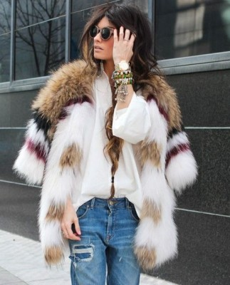 How to Style Faux Fur Coat With Outfit_