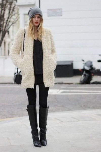 Keep warm in a cozy faux fur jacket like Camille Over the Rainbow