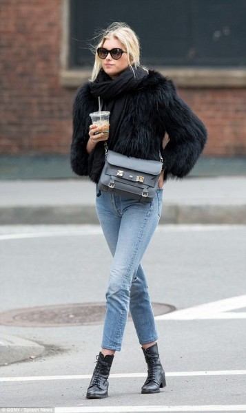 Model Elsa Hosk opted to keep a low-profile as she was pictured running errands in New York City on Wednesday afternoon.