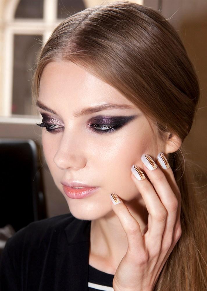 Shimmery Purple Cat-Eye