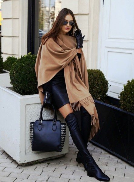 thigh-high-classic-boots-with-leather-dress
