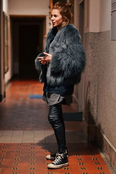 How to Style Faux Fur Coat With Outfit