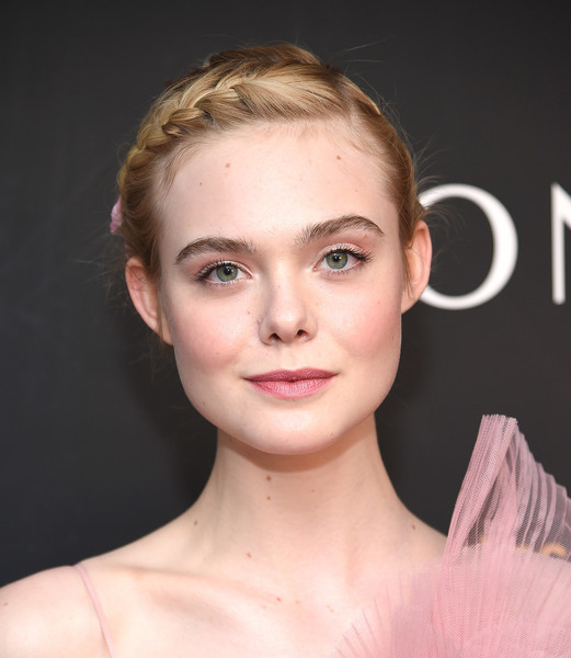 Elle Fanning kept it youthful with this braided updo at the New York premiere of 'The Neon Demon.'
