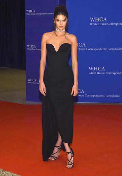 Kendall Jenner Strapless Dress