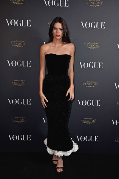 Kendall Jenner Strapless Gown