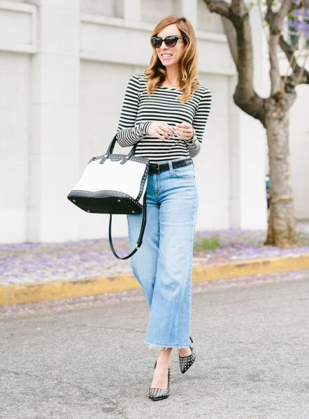Making Cropped Flare Jeans Classic