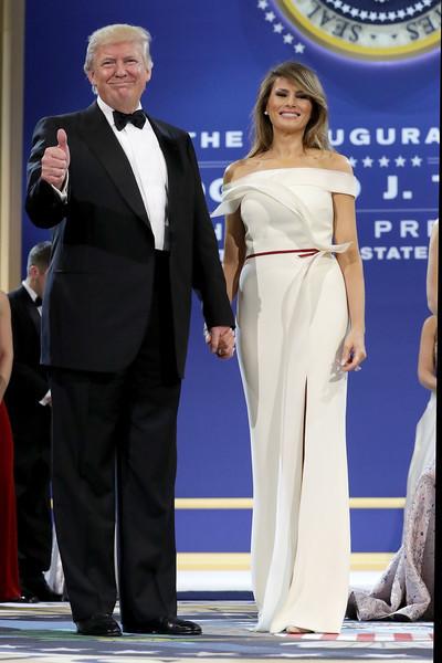 Melania Trump Off-the-Shoulder Dress