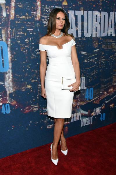 Melania Trump Off-the-Shoulder Dress _