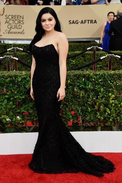 Ariel Winter Black Strapless Dress by