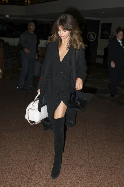 Selena arriving at her hotel in Sydney, Australia