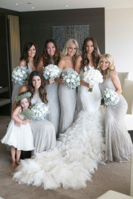 Shining Silver Wedding Ideas