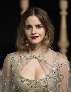Actress Emma Watson arrives for the Asian premiere of the Disney Movie The Beauty and The Beast in Shanghai on February 27, 2017
