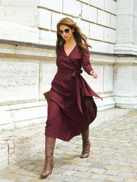 How to Style Outfit With Wrap Dress