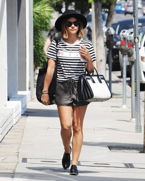 'Pretty Little Liars' actress Lucy Hale is spotted shopping in in West Hollywood