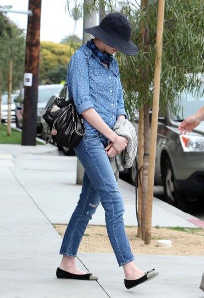 Anne Hathaway Button Down Shirt
