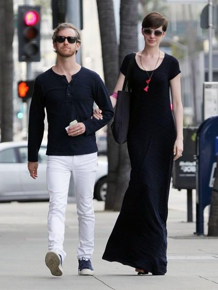 Anne Hathaway Maxi Dress