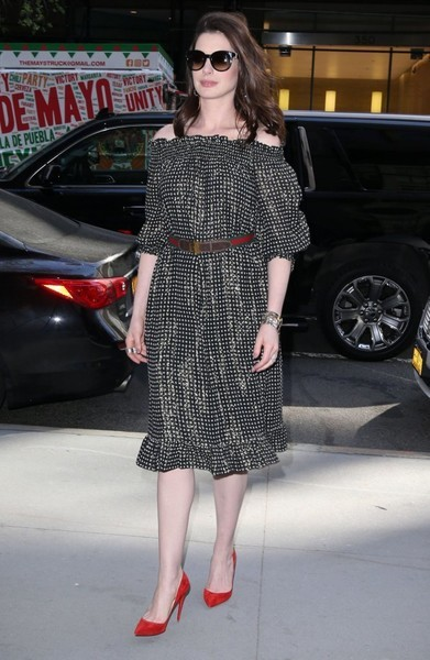Anne Hathaway Off-the-Shoulder Dress By Givenchy