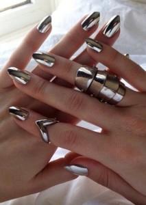 Mettalic Nail Art Ideas