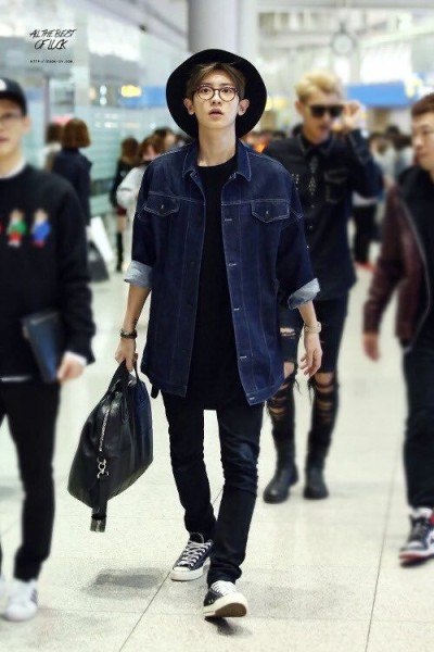 EXO Chanyeol kpop airport fashion