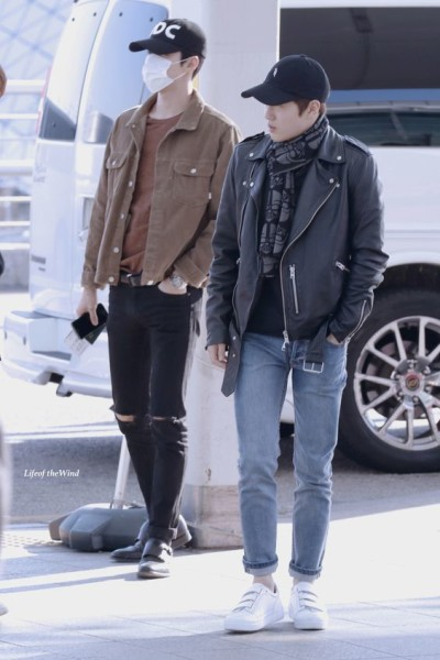 EXO Oh Sehun and Suho (Kim Joonmyun)