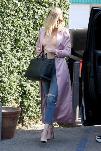 Khloe in Pink Coat
