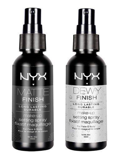 NYX Makeup Setting Spray - Matte Finish & NYX Dewy Finish Makeup Setting Spray