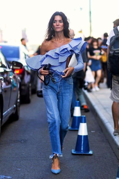 Popsugar From major ruffles to flared sleeves, statement tops are all the rage at the moment.