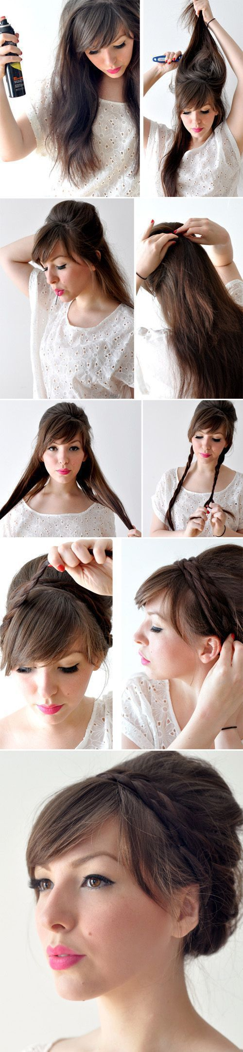 beautiful bun idea