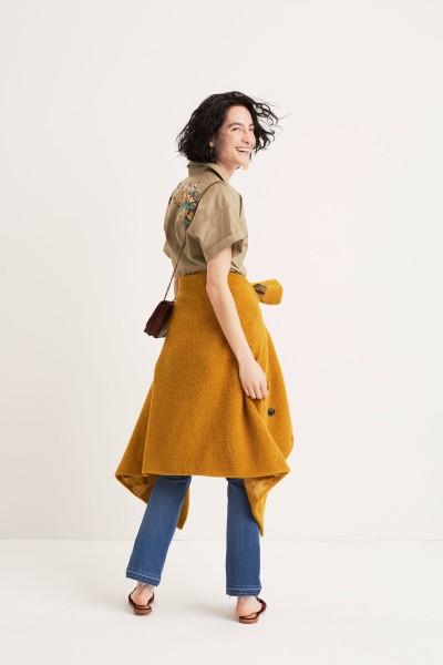 Embroidered Safari Shirt Bouclé Coat The Chain Crossbody Bag