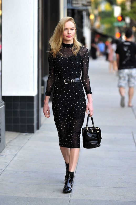 Kate Bosworth's All-Black Sheer Dress