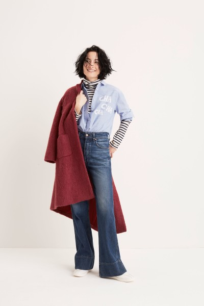 Oversized Ex-Boyfriend Cha Cha Cha Shirt Rivet & Thread Retro Wide-Leg Jeans
