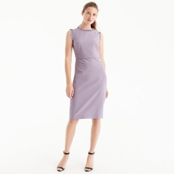 Ruffle-trim dress