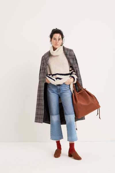 Striped Turtleneck Sweater The Drawstring Transport Tote The Walker Mule